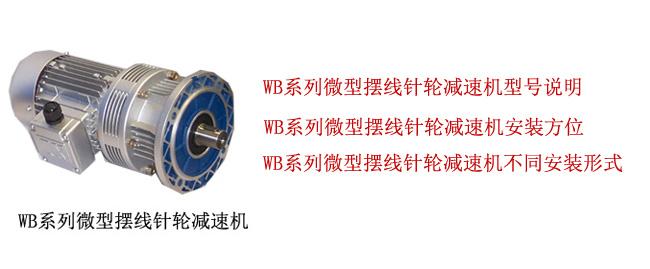 WB系列微型擺線針輪減速機